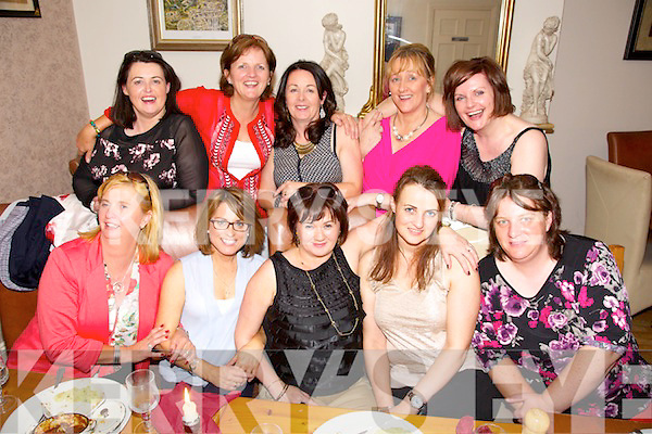Kate Brosnan from Annascaul celebrating her 50th Birthday with friends at Bella Bia's on Saturday. Pictured   Front left to right, Kathleen Daly, Trisha Kennedy, Kate Brosnan, Eileen Kennedy, Kathleen Moriarty.  Back left to right, Maria O'Rourke, Geraldine Walsh, Aine Smith, Noreen Finn, Christine Cox