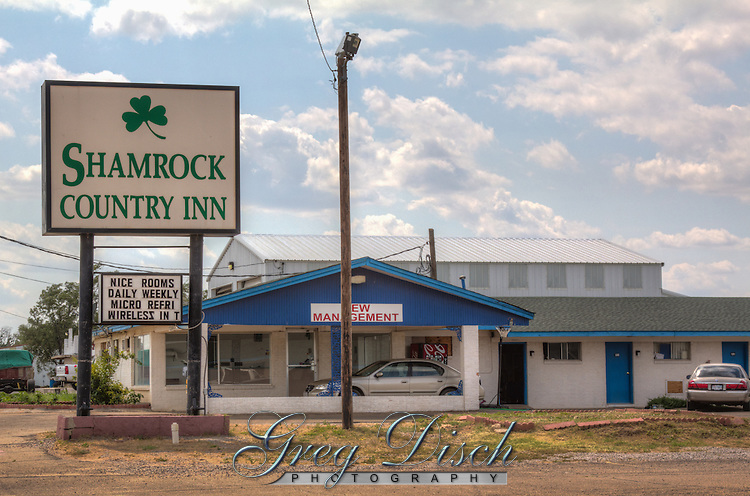 The Shamrock Country Inn on Route 66 in shamrock Texas.
