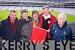Noel Quinn, Dan McCarthy, Kevin Cunniffe (Ballinasloe) Dan McCarthy and John Palmer pictured at Croke Park on Sunday for the Kenmare vs Ballinasloe final.