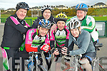 Pictured at the start of the IHCPT fun cycle in Killarney on Monday morning were Eamon Magnier, Tadhg Campbell, Mike O'Donoghue, Bill Lyne, Mike Walker and Paul Morgan. ........