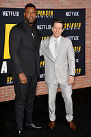 """LOS ANGELES, CA: 27, 2020: Winston Duke & Mark Wahlberg  at the world premiere of """"Spenser Confidential"""" at the Regency Village Theatre.<br /> Picture: Paul Smith/Featureflash"""