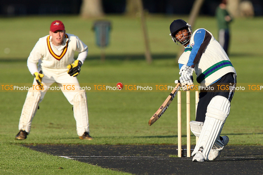 Raihan bats for London Tigers - Bengal Tigers vs London Tigers - Victoria Park Community Cricket League - 28/04/09 - MANDATORY CREDIT: Gavin Ellis/TGSPHOTO - Self billing applies where appropriate - 0845 094 6026 - contact@tgsphoto.co.uk - NO UNPAID USE.