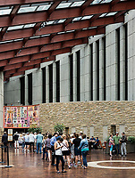 Interior atrium and ticket sales, Country Music Hall of Fame, Nashville, Tennessee, USA.