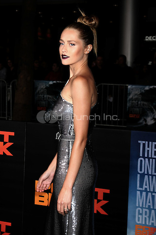 "HOLLYWOOD, CA - DECEMBER 15: Teresa Palmer at the ""Point Break"" Premiere at the TCL Chinese Theater in Hollywood, California on December 15, 2015. Credit: David Edwards/MediaPunch"