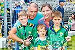 Jack, John, Sonny, Claire and Charlie Riordan (Abbeydorney), enjoying the Kerry Team Open Day Meet and Greet, at Fitzgerald Stadium, Killarney on Saturday last.
