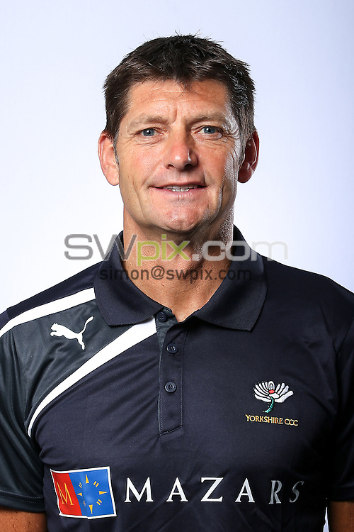 Picture by Alex Whitehead/SWpix.com - 03/04/2015 - Cricket - Yorkshire CCC Headshots - Headingley Stadium, Leeds, England - Yorkshire's Martyn Moxon.