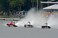 Start, heat race (L to R): Jimmie Merleau (#69), Mark Jakob (#7), Kris Shepard (#46) and Mike Schubert (#8).