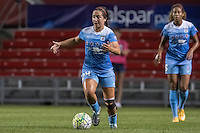 Bridgeview, IL - Saturday July 23, 2016:  Chicago Red Stars midfielder Danielle Colaprico (24) during a regular season National Women's Soccer League (NWSL) match between the Chicago Red Stars and the Houston Dash at Toyota Park.