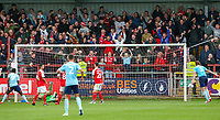 Players react after Accrington Stanley's Sean McConville (not pictured) finds the back of the net<br /> <br /> Photographer Alex Dodd/CameraSport<br /> <br /> The EFL Sky Bet League One - Fleetwood Town v Accrington Stanley - Saturday 15th September 2018  - Highbury Stadium - Fleetwood<br /> <br /> World Copyright &copy; 2018 CameraSport. All rights reserved. 43 Linden Ave. Countesthorpe. Leicester. England. LE8 5PG - Tel: +44 (0) 116 277 4147 - admin@camerasport.com - www.camerasport.com