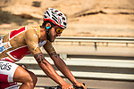 Gold Jersey wearer Loic Chetout (FRA) Cofidis in action during Stage 3 of the 2018 Tour of Oman running 179.5km from German University of Technology to Wadi Dayqah Dam. 15th February 2018.<br /> Picture: ASO/Muscat Municipality/Kare Dehlie Thorstad | Cyclefile<br /> <br /> <br /> All photos usage must carry mandatory copyright credit (&copy; Cyclefile | ASO/Muscat Municipality/Kare Dehlie Thorstad)
