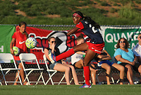 Piscataway, NJ - Saturday July 23, 2016: Cheyna Williams during a regular season National Women's Soccer League (NWSL) match between Sky Blue FC and the Washington Spirit at Yurcak Field.