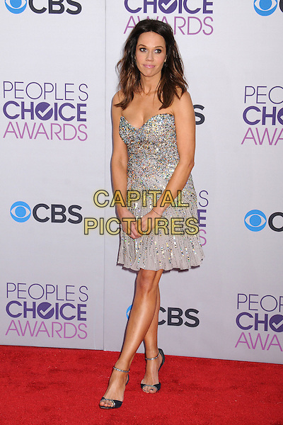 Mary Kitchen.People's Choice Awards 2013 - Arrivals held at Nokia Theatre L.A. Live, Los Angeles, California, USA..January 9th, 2013.full length silver sequins sequined strapless dress .CAP/ADM/BP.©Byron Purvis/AdMedia/Capital Pictures.