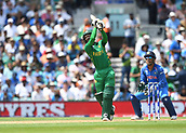June 18th 2017, The Kia Oval, London, England;  ICC Champions Trophy Cricket Final; India versus Pakistan; Imad Wasim of Pakistan hits another 6