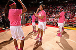 during the first half of an NCAA college basketball game, Wednesday, Feb. 17, 2016, in College Park, Md. Photo by Nick Wass