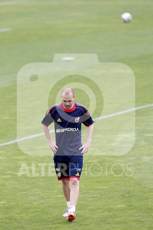 MADRID (25/05/09).- The Spanish Soccer national training session.  Andres Inesta...PHOTO: Cesar Cebolla / ALFAQUI