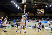 NBL Basketball game between the Wellington Saints and Otago Nuggets at TSB Arena Wellington, New Zealand on Tuesday 28 May 2013. Photo by Masanori Udagawa. www.photowellington.photoshelter.com.