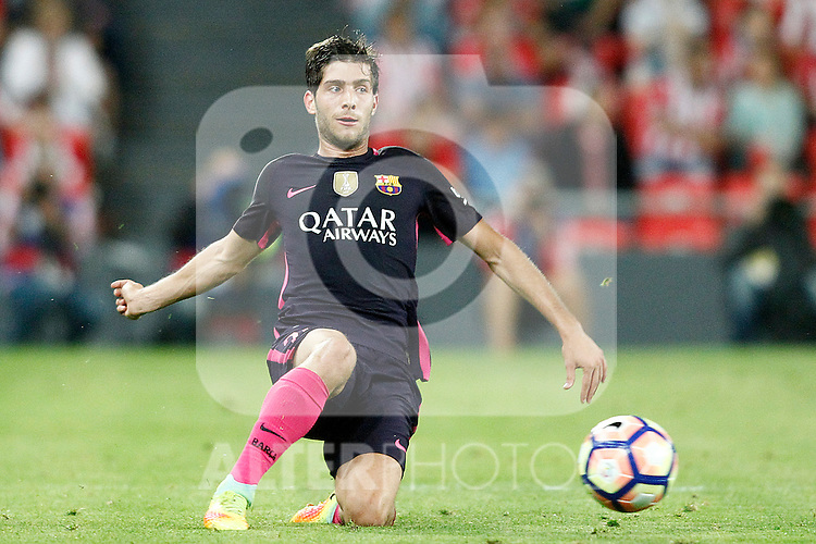 FC Barcelona's Sergi Roberto during La Liga match. August 28,2016. (ALTERPHOTOS/Acero)