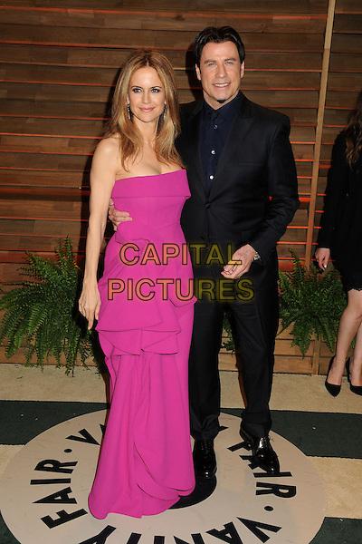 02 March 2014 - West Hollywood, California - Kelly Preston, John Travolta. 2014 Vanity Fair Oscar Party following the 86th Academy Awards held at Sunset Plaza.  <br /> CAP/ADM/BP<br /> &copy;Byron Purvis/AdMedia/Capital Pictures
