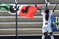 esultanza gol Eniola Aluko. Celebration after scoring a goal <br /> Verona 20-4-2019 Stadio AGSM Olivieri <br /> Football Women Serie A Hellas Verona - Juventus <br /> Juventus win italian championship <br /> Photo Daniele Buffa / Image Sport / Insidefoto