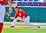 12 March 2012: Washington Nationals first baseman Adam LaRoche in action during a Spring Training game against the St. Louis Cardinals at Space Coast Stadium in Viera, Florida. The Nationals defeated the Cardinals 8-4 in Grapefruit League play. Mandatory Credit: Ed Wolfstein Photo