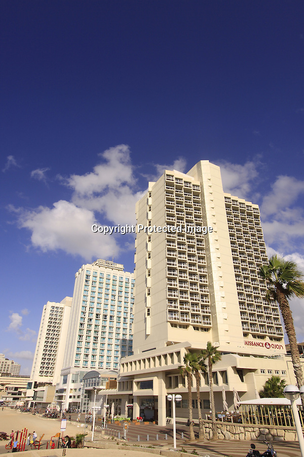 Israel, beachfront hotels in Tel Aviv