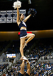 January 14, 2012:   Nevada Wolf Pack cheerleaders perform during their game against Hawai'i Rainbow Warriors during their NCAA basketball game played at Lawlor Events Center on Saturday night in Reno, Nevada.