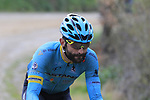 Moreno Moser (ITA) Astana on gravel sector 8 Monte Santa Maria during the 2017 Strade Bianche running 175km from Siena to Siena, Tuscany, Italy 4th March 2017.<br /> Picture: Eoin Clarke | Newsfile<br /> <br /> <br /> All photos usage must carry mandatory copyright credit (&copy; Newsfile | Eoin Clarke)