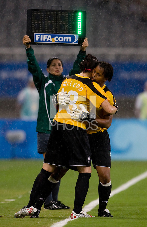 Erin McLeod, Karina LeBlanc. The USWNT defeated Canada in extra time, 2-1, during the 2008 Beijing Olympics in Shanghai, China.