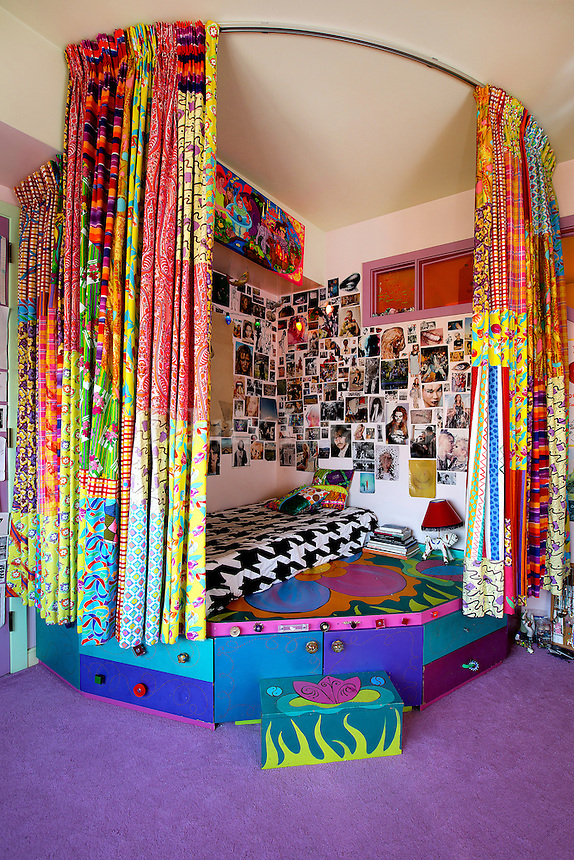 funky colorful bedroom