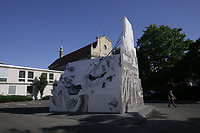 M&uuml;nster, Germany. Opening days of Skulptur Projekte 2017.<br /> Peles Empire (Barbara Wolff and Katharina St&ouml;ver): Sculpture [Skulptur], 2017