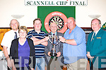 Leonard Fitzgerald and Gary McCormack preparing to play in the Scannell Darts cup final in Darby O'Gill's Killarney Friday night was l-r: Dermot, Margaret Kelleher, Leonard Fitzgerald, Eugene Scannell, Gary McCormack and Pat Gill   Copyright Kerry's Eye 2008