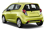 Rear three quarter view of a 2013 Chevrolet Spark LS