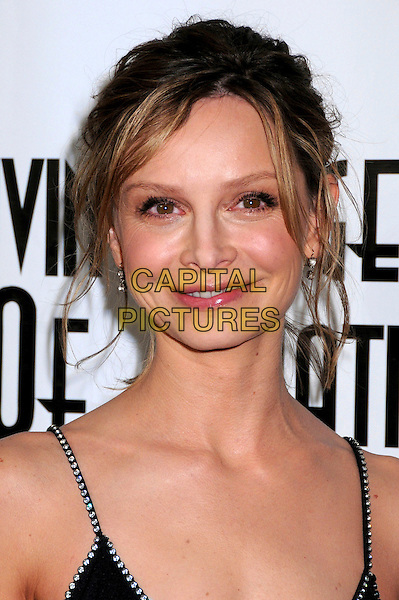 CALISTA FLOCKHART.6th Annual Living Legends of Aviation Awards at the Beverly Hilton Hotel, Beverly Hills, CA, USA,.22nd January 2009.portrait headshot black straps hair up crystals beaded .CAP/ADM/BP.©Byron Purvis/Admedia/Capital PIctures