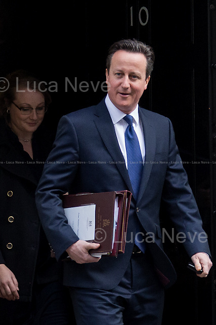 David Cameron (British Prime Minister).<br /> <br /> London, 18/03/2015. British Government's weekly Cabinet meeting held at 10 Downing Street before the Chancellor's announcement of the Budget for the fiscal year 2015.
