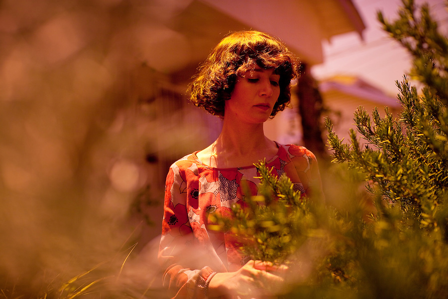 Los Angeles, California, May 30, 2011 - A portrait of performance artist, filmmaker and writer Miranda July at her office in Los Angeles. July's videos, performances, and web-based projects have been presented at the Museum of Modern Art, the Guggenheim Museum and in two Whitney Biennials. She currently lives in Los Angeles with her husband, filmmaker and artist Mike Mills. Her new movie, The Future, premiered this year at the Sundance and Berlin Film Festivals.