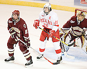 Tim Filangieri, Ryan Jones, Cory Schneider - The Boston College Eagles defeated the Miami University Redhawks 5-0 in their Northeast Regional Semi-Final matchup on Friday, March 24, 2006, at the DCU Center in Worcester, MA.