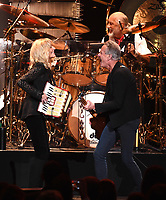 NEW YORK - JANUARY 26: Christine McVie, Mick Fleetwood, and Lindsey Buckingham of Fleetwood Mac appear at the 2018 MusiCares Person of the Year honoring Fleetwood Mac at Radio City Music Hall on January 26, 2018 in New York City. (Photo by Frank Micelotta/PictureGroup)