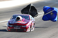 Mar 30, 2014; Las Vegas, NV, USA; NHRA pro stock driver Jimmy Alund during the Summitracing.com Nationals at The Strip at Las Vegas Motor Speedway. Mandatory Credit: Mark J. Rebilas-