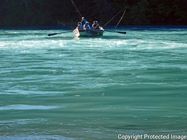 fishing from a dory on the Kenai River, Kenai, Alaska
