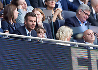 David Beckham during the Premier League match between Tottenham Hotspur and Crystal Palace at Wembley Stadium, London, England on 14 September 2019. Photo by Vince  Mignott / PRiME Media Images.