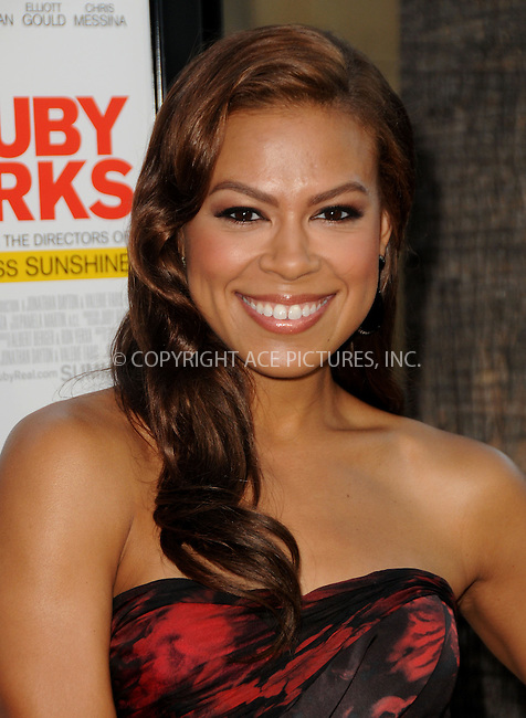WWW.ACEPIXS.COM . . . . .  ....July 19, 2012, LA ....Toni Trucks arriving at the premire of 'Ruby Sparks' at The  American Cinematheque's Egyptian Theatre on July 19, 2012 in Hollywood, California.....Please byline: PETER WEST - ACE PICTURES.... *** ***..Ace Pictures, Inc:  ..Philip Vaughan (212) 243-8787 or (646) 769 0430..e-mail: info@acepixs.com..web: http://www.acepixs.com