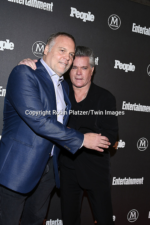 Vincent D'Onofrio and Ray Liotta attend the Entertainment Weekly &amp; PEOPLE Magazine New York Upfronts Celebration on May 16, 2016 at Cedar Lake in New York, New York, USA.<br /> <br /> photo by Robin Platzer/Twin Images<br />  <br /> phone number 212-935-0770