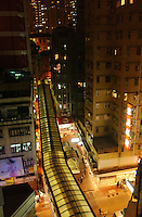 Mid-level escalator in Central, Hong Kong..