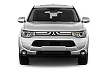Car photography straight front view of a 2014 Mitsubishi Outlander Instyle 5 Door SUV