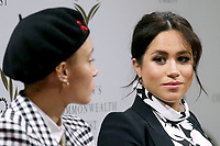 08 March 2019 - London, England - Meghan Markle Duchess of Sussex during a panel discussion convened by the Queen's Commonwealth Trust to mark International Women's Day. Photo Credit: ALPR/AdMedia