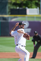 Scott Snodgress(36) of the Salt Lake Bees in action against the Reno Aces in Pacific Coast League action at Smith's Ballpark on May 10, 2015 in Salt Lake City, Utah. Reno defeated Salt Lake 11-2 in Game Two of the double-header.  (Stephen Smith/Four Seam Images)