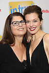Margo Seibert with her mom attends the Broadway Opening Night Performance Press Reception for  'In Transit' at Circle in the Square Theatre on December 11, 2016 in New York City.