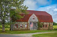 Bar Harbor, Maine: Historic Stone Barn Farm (1820)