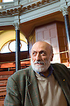 Carlo Petrini at the Sheldonian Theatre during the Sunday Times Oxford Literary Festival, UK, 16 - 24 March 2013. <br />