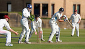 Scottish National Cricket League - Premier Div - West of Scotland CC V Aberdeenshire, at Hamilton Cres, Glasgow - 'Shire's Brad Rodden on his way to 102 not out, with little that West (and former Scotland) keeper Dougie Lockhart and his team can do about it - Picture by Donald MacLeod 11.07.09